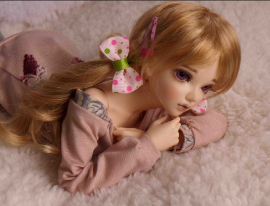 thinking barbie doll with two pony tail