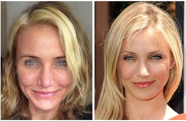 Unrecognizable Pictures Of Cameron Diaz WithOut Make Up - Cameron diaz make