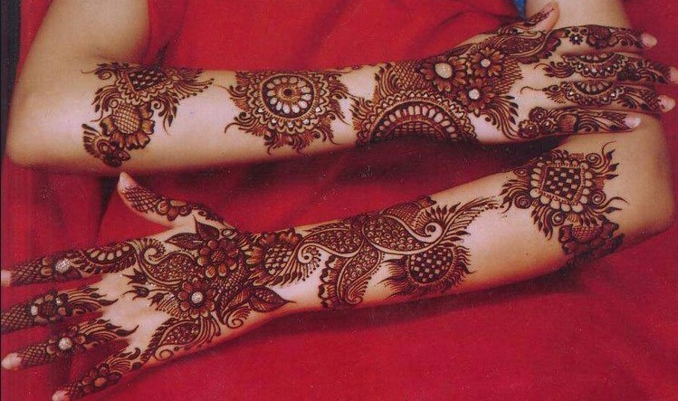 Mehndi Dizain : Top bridal mehndi designs for full hands front and back step