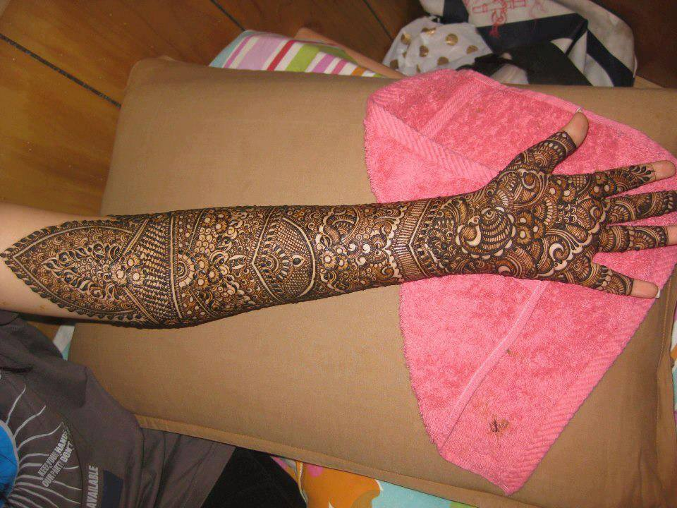 Mehndi Designs In : Top bridal mehndi designs for full hands front and back step