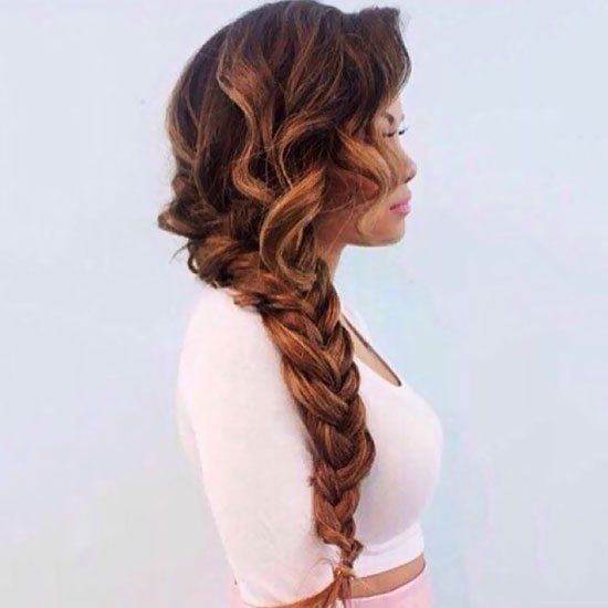 one sided braided haircut