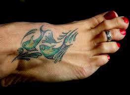 foot pisces tttoo design