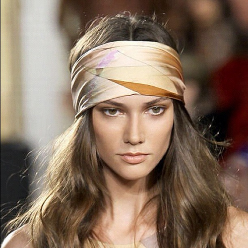 Silk band hippie hairstyle