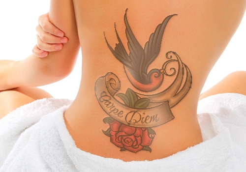 amazing carpe diem tattoo design