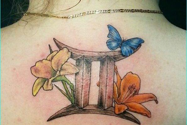 blossoms gemini tattoo design