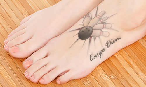 bowling carpe diem tattoo