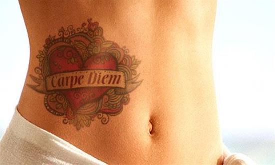 carpe diem tattoo with flower
