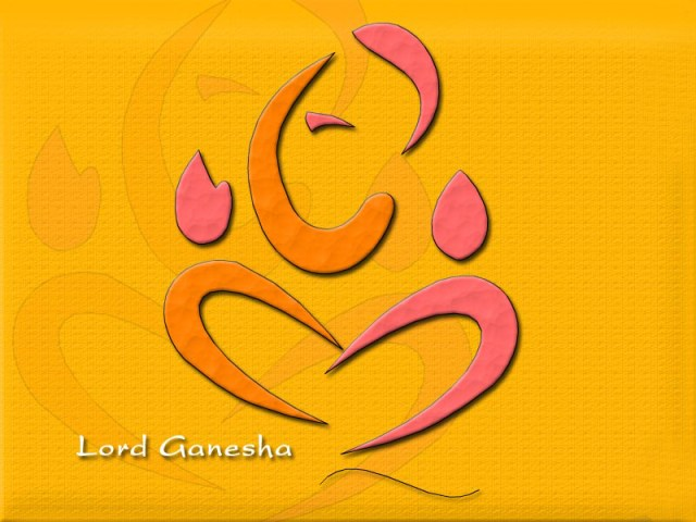 beautiful symbol of the lord ganesha