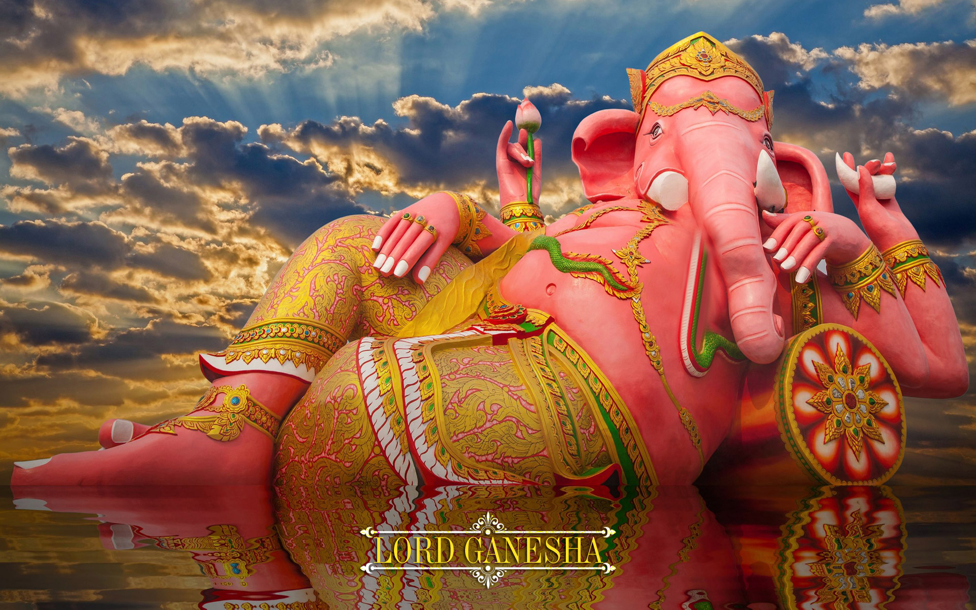 lord ganesha sleeping hd wallpaper