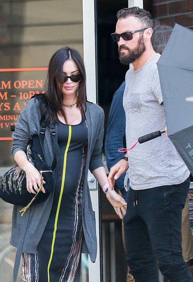 Megan Fox Without Makeup with baby bump