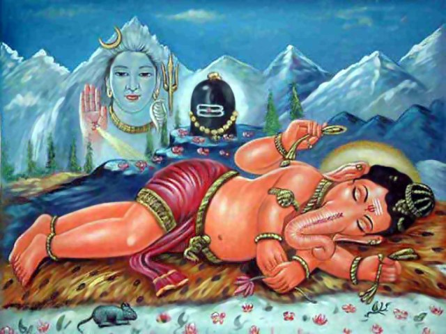 Sleeping Ganesha Wallpaper for Desktop