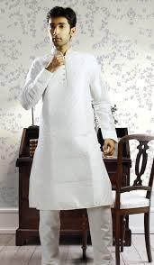 white kurta pyjama for men