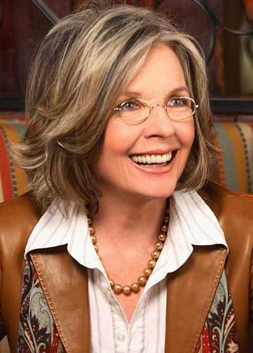 layer bob hairstyle for women over 50