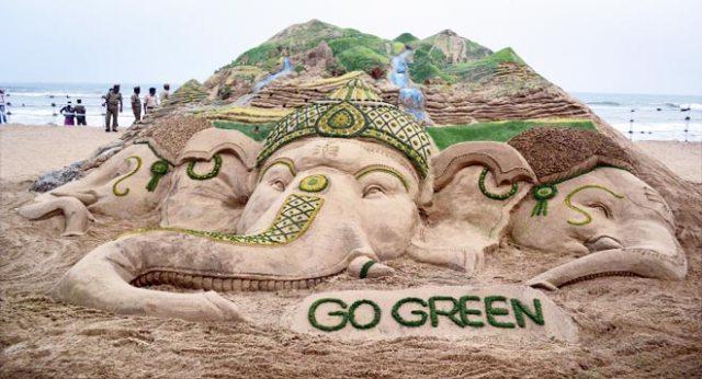 message giving image of god ganesha