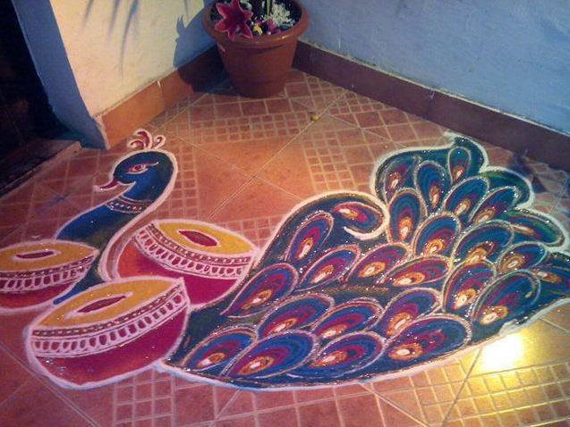 traditional rangoli design for diwali