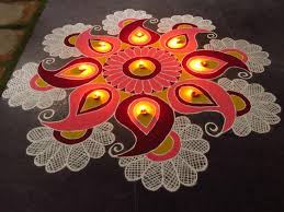 Indian rangoli design