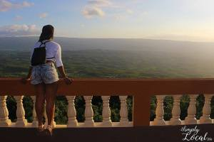 Back view of girl at Spur Tree Hill balcony