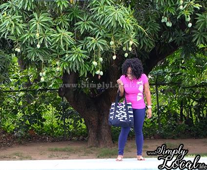 Jamaican Mango Season girl laughing