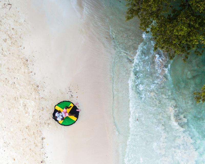 Jamaica beach flag mat