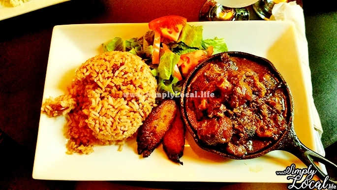 Oxtail rice and peas lunch at Oak Wine Bar