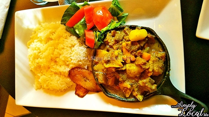 Curry goat lunch at Oak Wine Bar Kingston