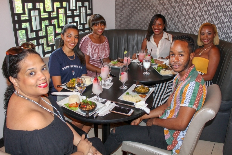 Group of friends at Oak Kitchen Wine Bar Jamaica