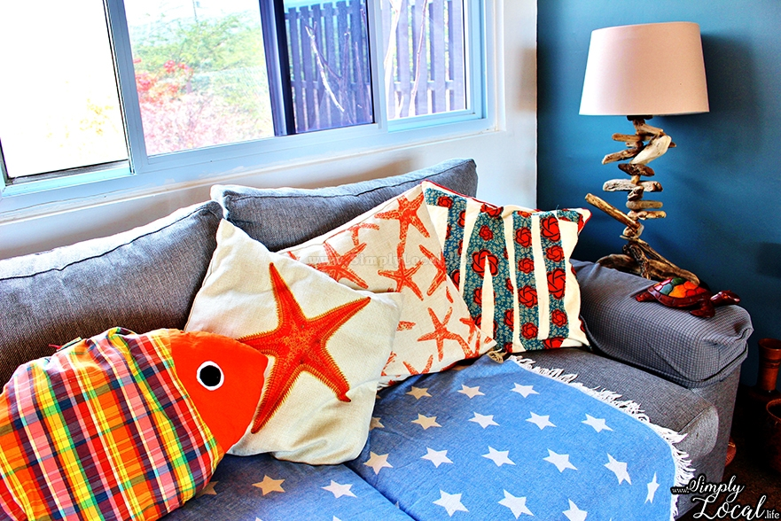 Turtles Nest Treasure Beach Jamaica Villa beach couch lamp