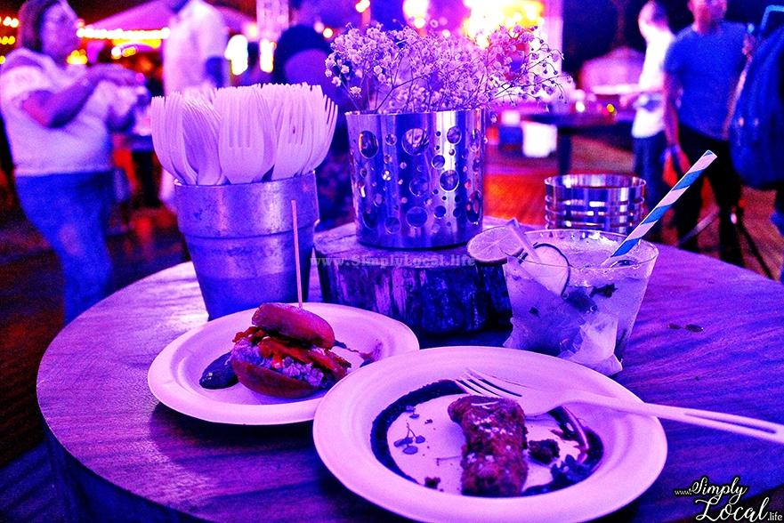 Jamaica food festival table set up