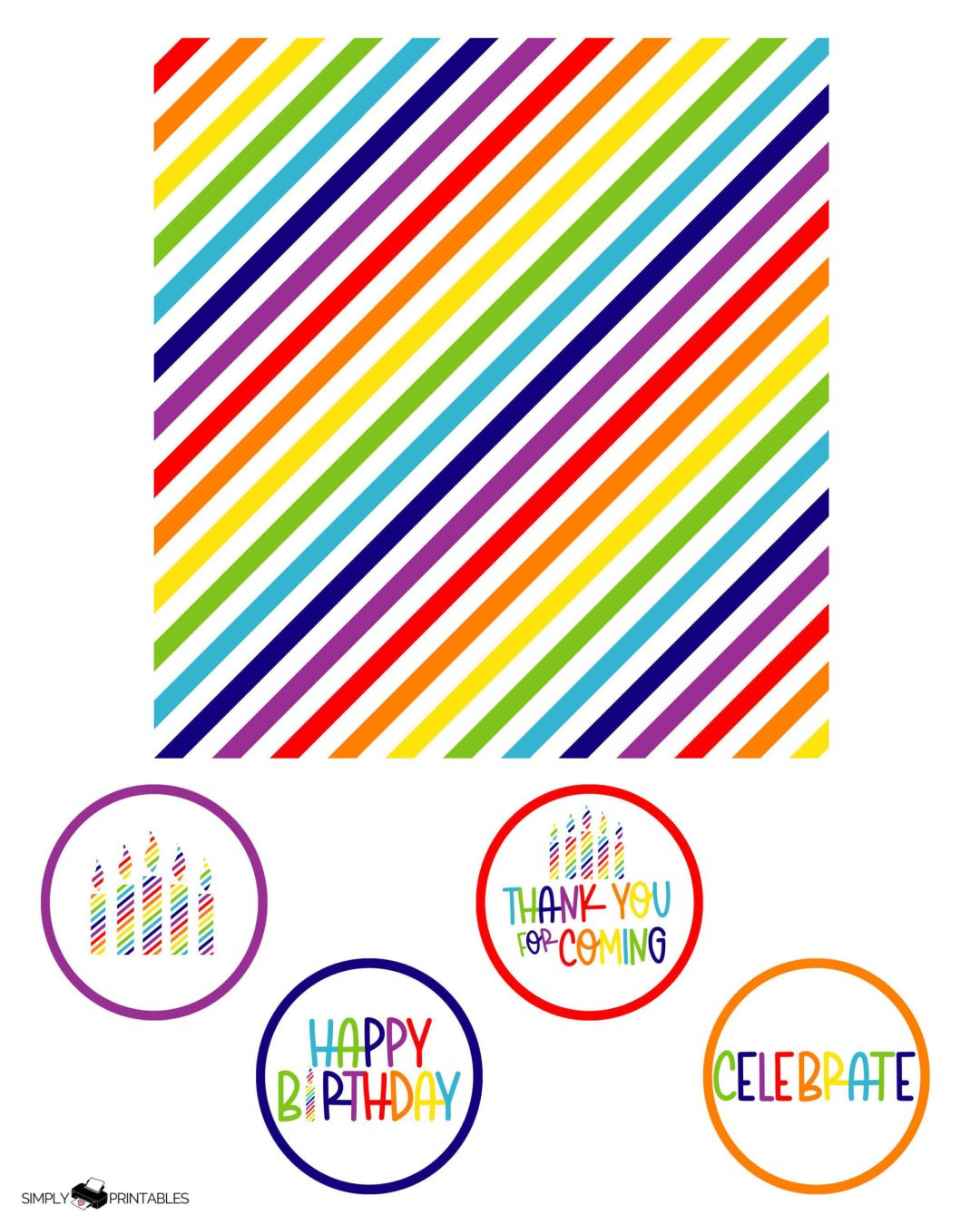 Free Printables Rainbow Birthday Party Favors And Invitation