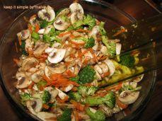 salata de ciuperci si brocoli