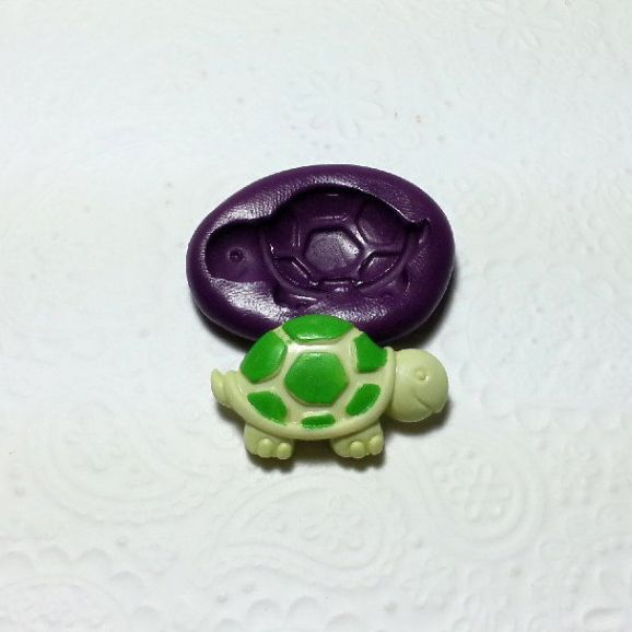 turtle tortoise silicone mold fondant chocolate cake pop soap clay decoration miniature simplymolds icing gum paste