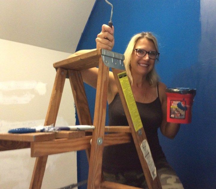 Painting two walls