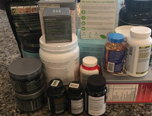 This pile represents only 10 of the different shake and supplement companies I have tried.