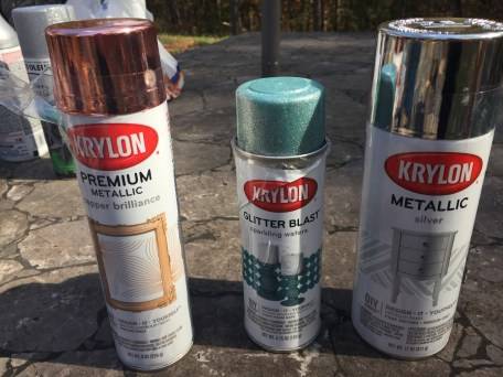 Love the Krylon Metallic Spray Paint, especially glitter blast!