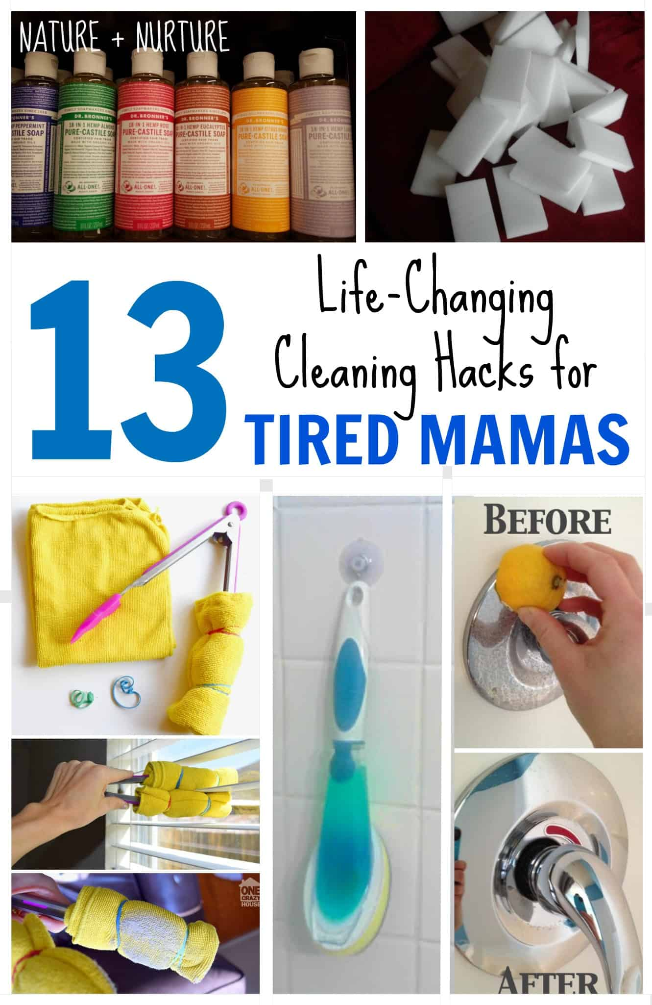 13 Cleaning Hacks for Tired Mamas