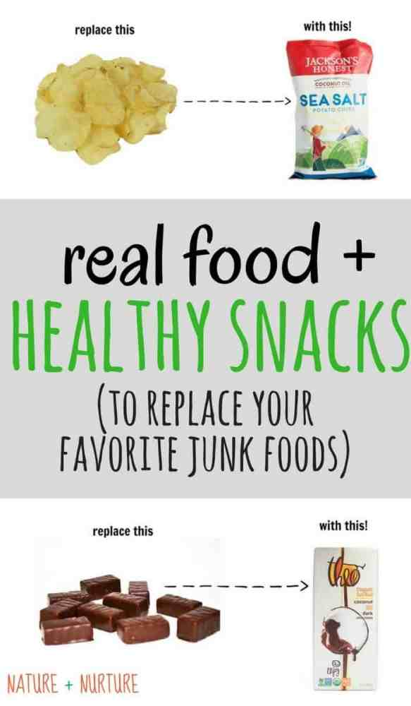 Healthy snacks and real food doesn't have to be boring! These alternatives taste much better than their fake-food counterparts.