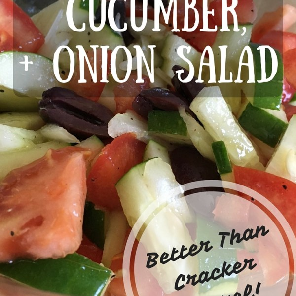 Tomato, Cucumber, & Onion Salad + Homemade Dressing (Better than Cracker Barrel)