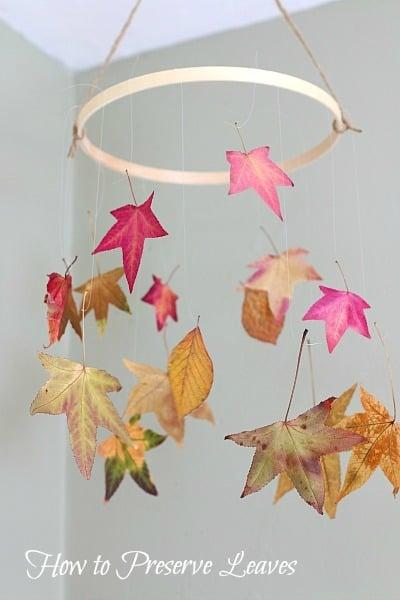 leaf mobile