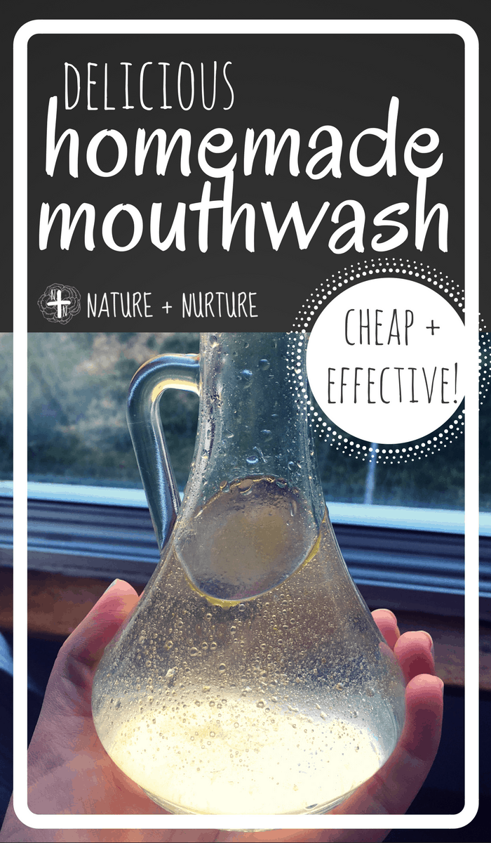 Homemade mouthwash is so easy to make and tastes much better than store-bought. Plus, it's cheap and works great! Click and try this simple recipe today!