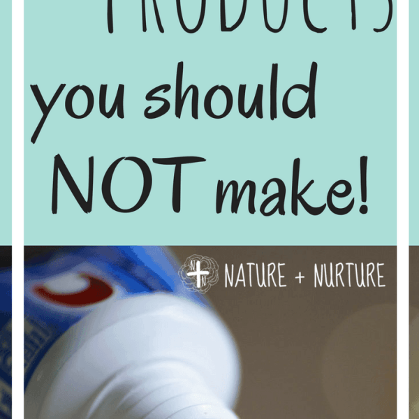 3 Natural DIY Care Products You Should Not Try To Make