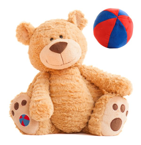 Buddy Ball Teddy Bear with Secret Compartment that converts into a Ball