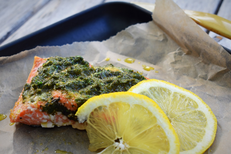 Pesto Sockeye Salmon
