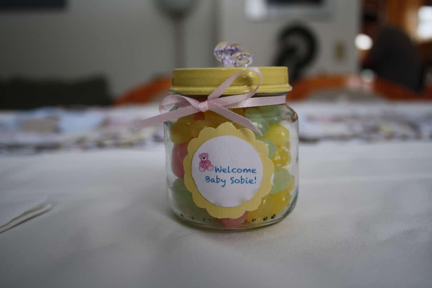 DIY Baby Food Jar Favors