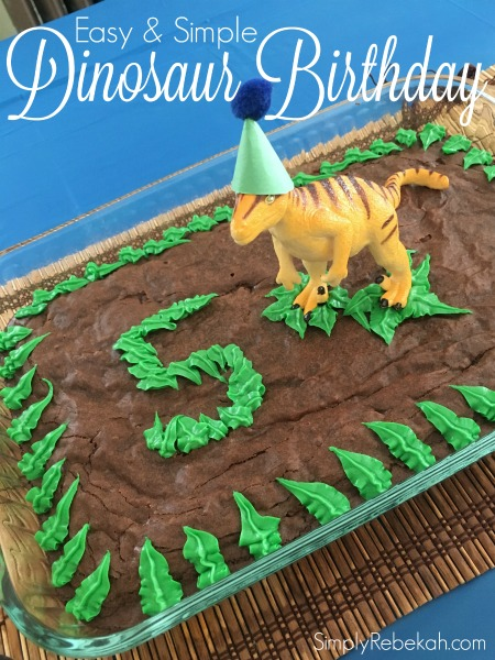 Easy And Simple Dinosaur Birthday Party Simply Rebekah