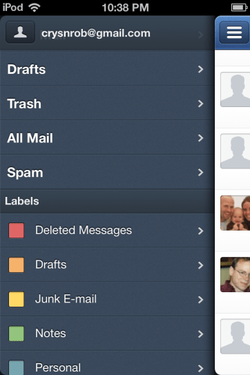 Sparrow integrates well with GMail.