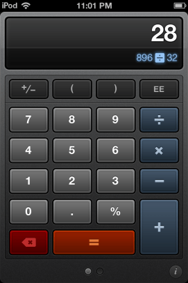 Calcbot is a nice calculator replacement.