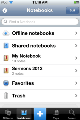 Keep everything organized with Evernote.