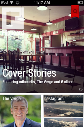 Flipboard turns your social networks and RSS feeds into a stylish magazine.