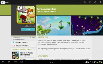 Checking out an app in Google Play.