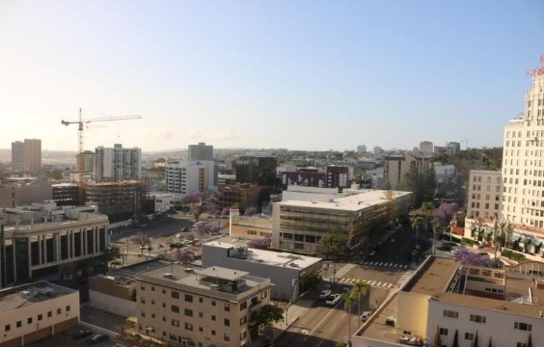 view from hotel in San Diego
